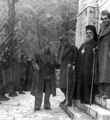 Ορκωμοσία της ΠΕΕΑ στη Βίνιανη Ευρυτανίας, 10 Μαρτίου 1944, Δημοτικό Κέντρο Ιστορίας και Τεκμηρίωσης Βόλου – Γιάννης Νισύριος
